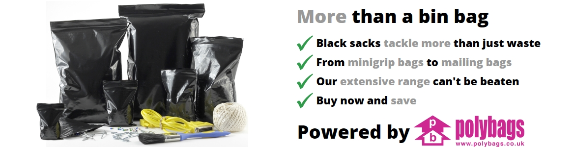 Polybags black grip seal bags
